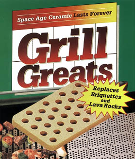Ceramic Grill Briquettes for Grilling 45-Pack Improving Cooking 315 Square Inch